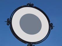 Circular Blank Sign Stock Image