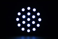 Circular bokeh. Abstract glowing shapes in the dark background, figure bokeh Stock Photo