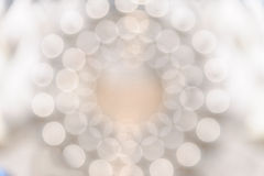 Circular Bokeh light. Shimmering blur spot lights on colorful abstract background Royalty Free Stock Photography
