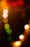 Circular bokeh lights background in vibrant colors Royalty Free Stock Photo