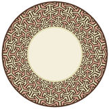 Circular border-brown. An round border inspired by arabic pattern stock illustration