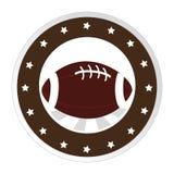 Circular border with football ball and decorative stars Royalty Free Stock Photography