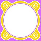 Circular border frame purple yellow Royalty Free Stock Photography