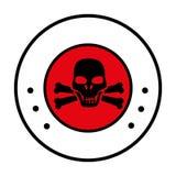 Circular border with symbol skull and bones Stock Images
