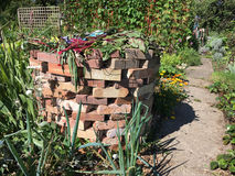Circular Brick Compost Bin. Old fashioned Victoria style compost bin made from bricks Stock Photography