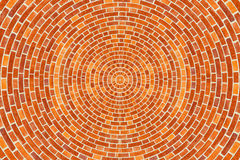 Circular Brick Pattern. A circular brick pattern background texture Stock Photo
