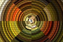 Circular brick pattern. Abstract circular brick pattern in assorted earth tones Stock Photos