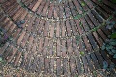 Circular brick pattern background Royalty Free Stock Image