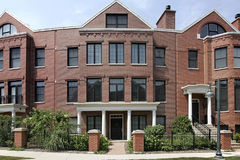 Circular brick townhouse Stock Image