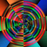 Circular bright colors. Circular pattern of colors in a circular shape royalty free stock photos