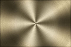 Circular brushed gold metal texture background,illustration Royalty Free Stock Photos