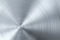 Circular brushed metal. Background or texture Royalty Free Stock Photo