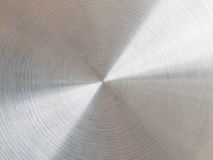 Circular brushed metal Stock Images