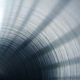 Circular brushed metal texture Royalty Free Stock Images