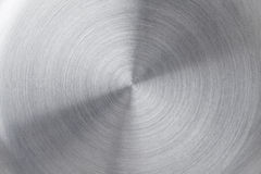 Circular brushed metal texture Royalty Free Stock Photography