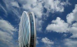 Circular building AlDar, Abu Dhabi Stock Photos