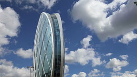 Circular building AlDar, Abu Dhabi,  United Arab Emirates stock video footage