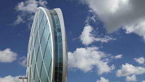 Circular building AlDar, Abu Dhabi,  United Arab Emirates stock footage