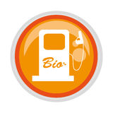 Circular button bio fuel station Stock Photos
