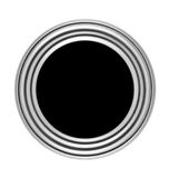 Circular button with metal frame Royalty Free Stock Photography