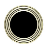 Circular button with metal frame Stock Images