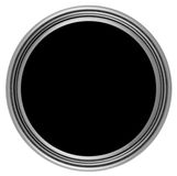Circular button with metal frame Stock Photo