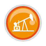 Circular button with Oil extraction machine Stock Images