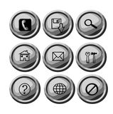 Circular buttons for web Royalty Free Stock Photography