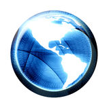 Circular bytes with globe Royalty Free Stock Image