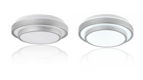 Circular ceiling lamps Stock Photo