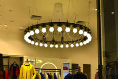 lighting in  clothing store Royalty Free Stock Photography