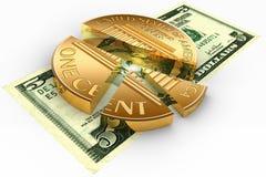 Circular chart Royalty Free Stock Images