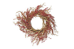 Circular Christmas arrangement Stock Image