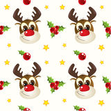 Circular Christmas pattern Royalty Free Stock Photos