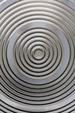 Circular classy aluminium surface. Thick circled aluminum surface. Creative design Stock Images
