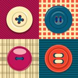 Circular clothing button icon set. royalty free illustration