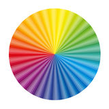 Circular Color Gradient Chart Fan Stock Photography