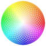Circular color wheel mosaic Royalty Free Stock Photo