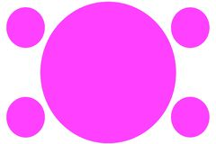 Circular Colored Banners - Pink Circles. Can be used for Illustration purpose, background, website, businesses, presentations,. Product Promotions etc. Empty vector illustration