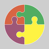 Circular colorful icon. Circular colorful puzzle icon vector logo illustration Stock Photo