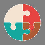 Circular colorful icon. Circular colorful puzzle icon vector logo illustration Stock Photos