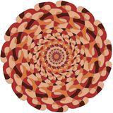 Circular colorful pattern with intersections royalty free stock image