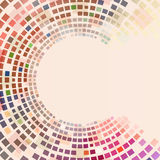 Circular colorful squares Stock Photography