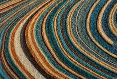Circular colors carpets pattern Royalty Free Stock Photography