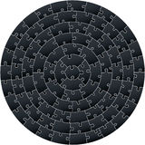 Circular complex puzzle Royalty Free Stock Photo