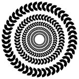Circular, concentric abstract design element , motiff on white Stock Images