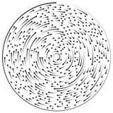 Circular concentric arrows. Cyclic, cycle arrows. Arrow element Royalty Free Stock Photos