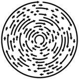 Circular concentric arrows. Cyclic, cycle arrows. Arrow element Royalty Free Stock Image