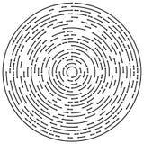 Circular concentric arrows. Cyclic, cycle arrows. Arrow element Stock Images