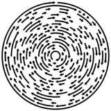 Circular concentric arrows. Cyclic, cycle arrows. Arrow element Stock Photography